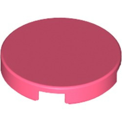Coral Tile, Round 2 x 2 with Bottom Stud Holder - new