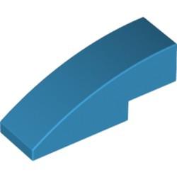 Dark Azure Slope, Curved 3 x 1 - used