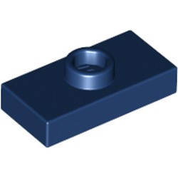 Dark Blue Plate, Modified 1 x 2 with 1 Stud with Groove (Jumper) - used