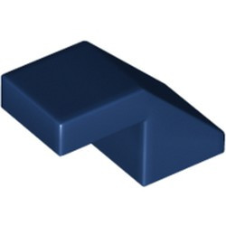Dark Blue Slope 45 2 x 1 with Cutout without Stud - new