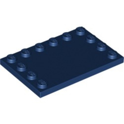 Dark Blue Tile, Modified 4 x 6 with Studs on Edges