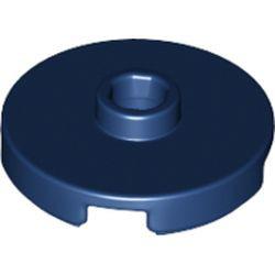 Dark Blue Tile, Round 2 x 2 with Open Stud