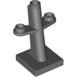Dark Bluish Gray Boat, Mast 2 x 2 x 3 Inclined with Stud on Top and Two Sides