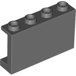 Dark Bluish Gray Panel 1 x 4 x 2 with Side Supports - Hollow Studs