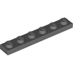 Dark Bluish Gray Plate 1 x 6 - used
