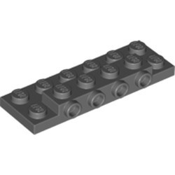 Dark Bluish Gray Plate, Modified 2 x 6 x 2/3 with 4 Studs on Side - new
