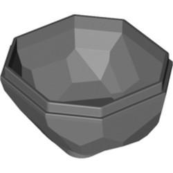 Dark Bluish Gray Rock Boulder, Bottom - used