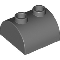 Dark Bluish Gray Slope, Curved 2 x 2 x 1 Double with 2 Studs