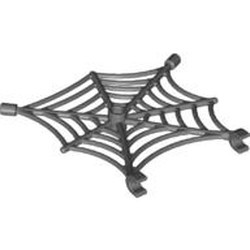 Dark Bluish Gray Spider Web with Clips - used
