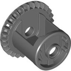 Dark Bluish Gray Technic, Gear Differential with Inner Tabs and Closed Center, 28 Bevel Teeth - used