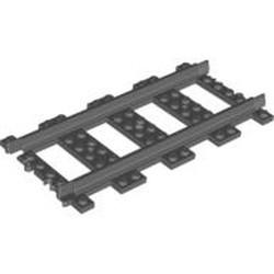 Dark Bluish Gray Train, Track Plastic (RC Trains) Straight - new