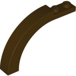 Dark Brown Brick, Arch 1 x 6 x 3 1/3 Curved Top - new