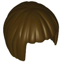 Dark Brown Minifigure, Hair Short, Bob Cut - used