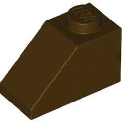 Dark Brown Slope 45 2 x 1 - new
