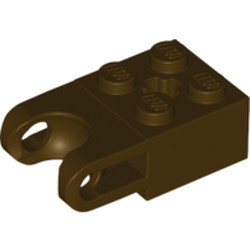 Dark Brown Technic, Brick Modified 2 x 2 with Ball Socket Wide and Axle Hole
