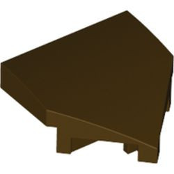 Dark Brown Wedge 2 x 2 x 2/3 Pointed with Stud Notches