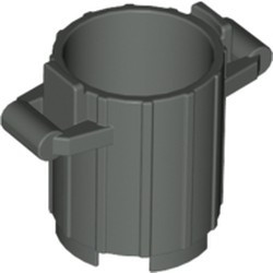 Dark Gray Container, Trash Can with 2 Cover Holders