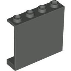 Dark Gray Panel 1 x 4 x 3 - Hollow Studs - used