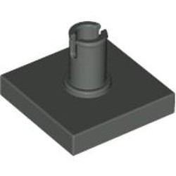 Dark Gray Tile, Modified 2 x 2 with Pin - used