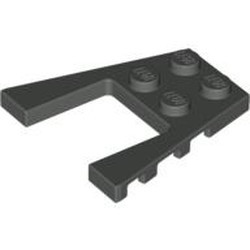 Dark Gray Wedge, Plate 4 x 4 - used