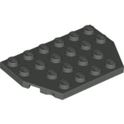 Dark Gray Wedge, Plate 4 x 6 Cut Corners