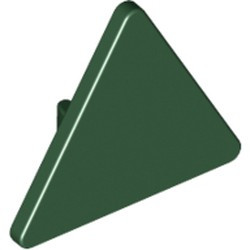 Dark Green Road Sign 2 x 2 Triangle with Clip