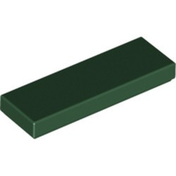 Dark Green Tile 1 x 3