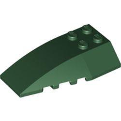 Dark Green Wedge 6 x 4 Triple Curved