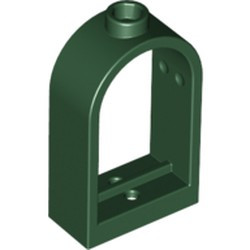 Dark Green Window 1 x 2 x 2 2/3 with Rounded Top