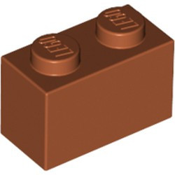 Dark Orange Brick 1 x 2 - new