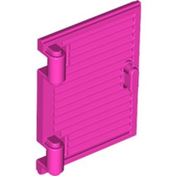 Dark Pink Shutter for Window 1 x 2 x 3 with Hinges and Handle