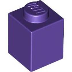 Dark Purple Brick 1 x 1