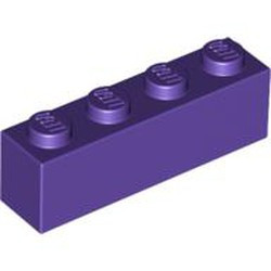 Dark Purple Brick 1 x 4 - new