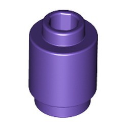 Dark Purple Brick, Round 1 x 1 Open Stud - new