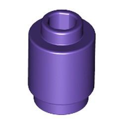 Dark Purple Brick, Round 1 x 1 Open Stud