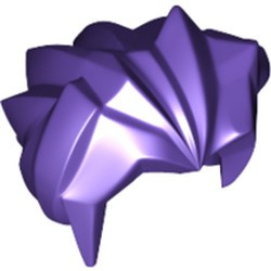Dark Purple Minifigure, Hair Angular Swept Back - used