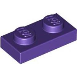 Dark Purple Plate 1 x 2 - new