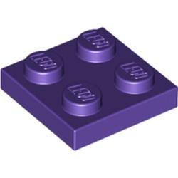 Dark Purple Plate 2 x 2 - new