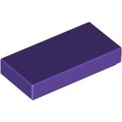 Dark Purple Tile 1 x 2 with Groove - used