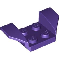 Dark Purple Vehicle, Mudguard 2 x 4 with Flared Wings - used