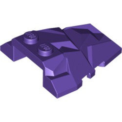 Dark Purple Wedge 4 x 4 Fractured Polygon Top - used