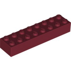 Dark Red Brick 2 x 8