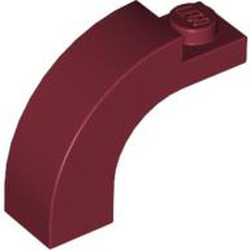 Dark Red Brick, Arch 1 x 3 x 2 Curved Top - used