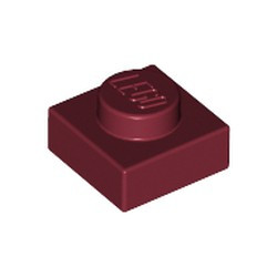 Dark Red Plate 1 x 1 - used