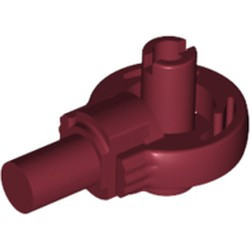 Dark Red Technic, Rotation Joint Ball Loop with Two Perpendicular Pins with Friction - used