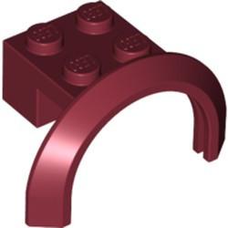 Dark Red Vehicle, Mudguard 4 x 2 1/2 x 1 2/3 with Arch Round