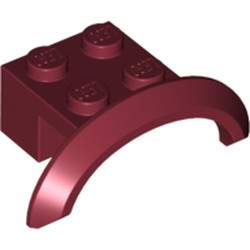 Dark Red Vehicle, Mudguard 4 x 2 1/2 x 1 with Arch Round - used