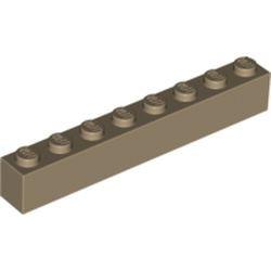 Dark Tan Brick 1 x 8