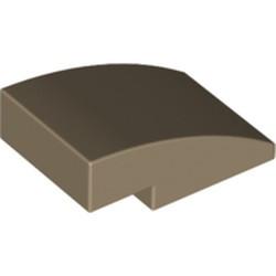 Dark Tan Slope, Curved 3 x 2