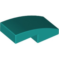 Dark Turquoise Slope, Curved 2 x 1 - new